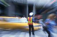 Traffic policeman directing traffic<br />