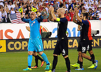 Philadelphia, PA - Saturday June 11, 2016:  USA GK Brad Guzan (1) during a Copa America Centenario Group A match between United States (USA) and Paraguay (PAR) at Lincoln Financial Field.