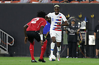 CLEVELAND, OHIO - JUNE 22: Gyasi Zardes #9 during a 2019 CONCACAF Gold Cup group D match between the United States and Trinidad & Tobago at FirstEnergy Stadium on June 22, 2019 in Cleveland, Ohio.