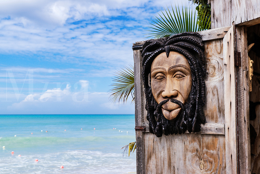 Traditional Jamaican wood carvings,, Negril, Jamaica