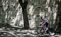 """Giulio Ciccone (ITA/Trek - Segafredo) off to the race start in Perugia<br /> <br /> 104th Giro d'Italia 2021 (2.UWT)<br /> Stage 11 from Perugia to Montalcino (162km)<br /> """"the Strade Bianche stage""""<br /> <br /> ©kramon"""
