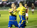 Kelty Hearts v St Johnstone…07.10.20   New Central Park  Betfred Cup<br />Chris Kane celebrates his goal with Callum Hendry<br />Picture by Graeme Hart.<br />Copyright Perthshire Picture Agency<br />Tel: 01738 623350  Mobile: 07990 594431