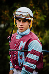 ELMONT, NY - OCTOBER 08: Irad Ortiz Jr, walking to the paddock prior to the 145th Running of The Champagne, on Jockey Club Gold Cup Day at Belmont Park on October 8, 2016 in Elmont, New York. (Photo by Douglas DeFelice/Eclipse Sportswire/Getty Images)