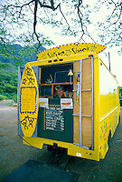 "EDITORIAL ONLY. """"Shrimp shack."""" Lunchwagon selling locally grown seafood. North Shore Oahu"