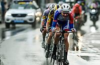Stefan Küng (SUI/Groupama-FDJ) leading the race leaders<br /> <br /> 82nd Gent-Wevelgem in Flanders Fields 2020 (1.UWT)<br /> 1 day race from Ieper to Wevelgem (232km)<br /> <br /> ©kramon