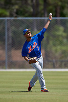 New York Mets Ricardo Cespedes (7) during practice before a minor league Spring Training game against the Miami Marlins on March 26, 2017 at the Roger Dean Stadium Complex in Jupiter, Florida.  (Mike Janes/Four Seam Images)