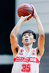 Yip Yiu Pong #35 of Nam Ching Basketball Team concentrates prior to a free throw during the Hong Kong Basketball League game between Nam Ching and  HKPA at Southorn Stadium on June 12, 2018 in Hong Kong. Photo by Yu Chun Christopher Wong / Power Sport Images