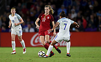 Orlando City, FL - Wednesday March 07, 2018: Tierna Davidson  during a 2018 SheBelieves Cup match between the women's national teams of the United States (USA) and England (ENG) at Orlando City Stadium.