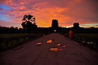 Angkor Wat at Sunset, Siem Reap, Cambodia