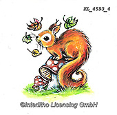 CUTE ANIMALS, LUSTIGE TIERE, ANIMALITOS DIVERTIDOS, paintings+++++,KL4593/4,#ac#, EVERYDAY ,sticker,stickers ,autumn,harvest
