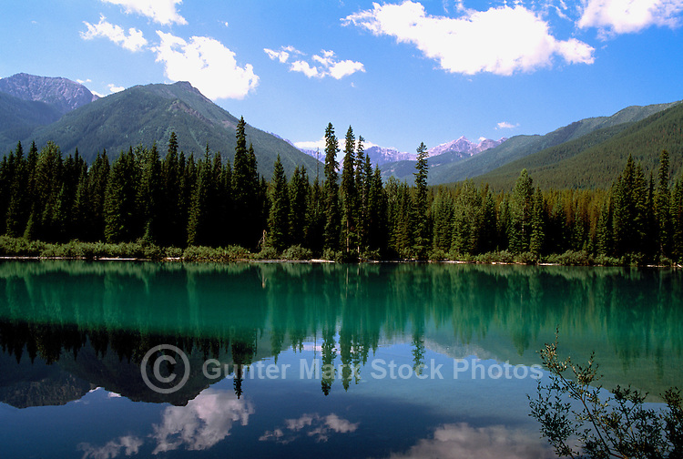 Rocky Mountains, Canadian Rockies, BC, British Columbia, Canada - Blue Lake in the Upper Elk Valley near Elkford, Summer