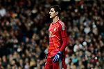 Real Madrid's Thibaut Courtois during La Liga match between Real Madrid and Valencia CF at Santiago Bernabeu Stadium in Madrid, Spain. December 01, 2018. (ALTERPHOTOS/A. Perez Meca)