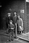 Working class family group poverty London 1970s. Mother father children and friend 1976. UK