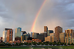 Rainbow and the Mile High City from the Auraria Campus, Denver, Colorado. .  John offers private photo tours in Denver, Boulder and throughout Colorado. Year-round Colorado photo tours.