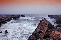 Storm on the coast, Netherland Antilles, Bonaire, Caribbean Sea, Atlantic, Washington Slagbaai National Park, Playa Chikitu