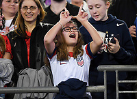 JACKSONVILLE, FL - NOVEMBER 10: USA fans during a game between Costa Rica and USWNT at TIAA Bank Field on November 10, 2019 in Jacksonville, Florida.