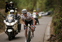 Daryl Impey (ZAF/Mitchelton-Scott) manages to solo away from the front of the race <br /> <br /> 59th De Brabantse Pijl - La Flèche Brabançonne 2019 (1.HC)<br /> One day race from Leuven to Overijse (BEL/196km)<br /> <br /> ©kramon