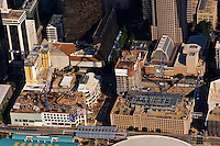Aerial photo of a new highrise under construction in Charlotte taken May 2008.