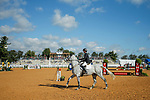 October 17, 2021: Woods Baughman (USA), aboard Hopak de Greenbay Z, competes during the Stadium Jumping Final at the 3* level during the Maryland Five-Star at the Fair Hill Special Event Zone in Fair Hill, Maryland on October 17, 2021. Jon Durr/Eclipse Sportswire/CSM