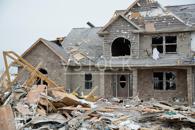 House destroyed by tornado