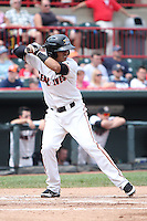 Erie SeaWolves Gustavo Nunez #1 during a game against the Harrisburg Senators at Jerry Uht Park on August 7, 2011 in Erie, Pennsylvania.  Harrisburg defeated Erie 10-6.  (Mike Janes/Four Seam Images)