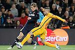 FC Barcelona's Jordi Alba (r) and  Atletico de Madrid's Fernando Torres during Champions League 2015/2016 match. April 5,2016. (ALTERPHOTOS/Acero)
