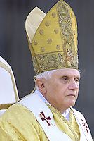 Pope Benedict XVI prays during a procession for the solemnity of Corpus Christi in St. John Lateran Square in Rome, .June 15, 2006.
