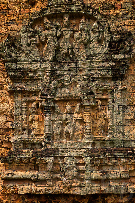 The Pre-Angkorian temple complex of Sambor Prei Kuk (Khmer:  is located about 30 kilometers to the north of the town of Kampong Thom, Cambodia. It was also known as Isanapura, and was the capital of the Chenla Kingdom.<br />