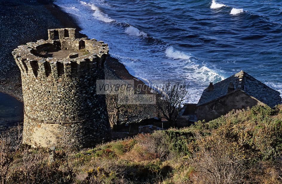 Europe/France/Corse/2B/Haute-Corse/Cap Corse: La tour génoise de la marine de Negro