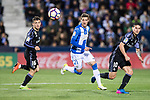 Ruben Perez (c) of Deportivo Leganes in action during their La Liga match between Deportivo Leganes and Real Madrid at the Estadio Municipal Butarque on 05 April 2017 in Madrid, Spain. Photo by Diego Gonzalez Souto / Power Sport Images