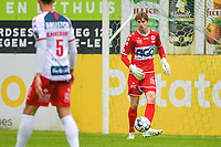goalkeeper Maxim Deman (16) of KV Kortrijk pictured during a friendly soccer game between Sparta Petegem and KV Kortrijk during the preparations for the 2021-2022 season , on Wednesday 30th of June 2021 in Petegem , Belgium . PHOTO STIJN AUDOOREN | SPORTPIX.BE