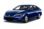 2017 Honda Clarity Electric 5 Door Hatchback angular front stock photos of front three quarter view