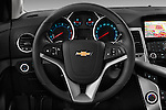 Steering wheel view of a 2013 Chevrolet CRUZE LTZ 5 Door Hatchback 2WD