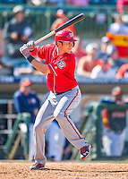 15 March 2016: Washington Nationals infielder Trea Turner, ranked the Number 2 Top Prospect in the Nationals organization for 2016 by MLB and Baseball America, in action during a Spring Training pre-season game against the Houston Astros at Osceola County Stadium in Kissimmee, Florida. The Nationals defeated the Astros 6-4 in Grapefruit League play. Mandatory Credit: Ed Wolfstein Photo *** RAW (NEF) Image File Available ***