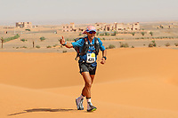 4th October 2021; Tisserdimine to Kourci Dial Zaid;  Marathon des Sables, stage 2 of  a six-day, 251 km ultramarathon, which is approximately the distance of six regular marathons. The longest single stage is 91 km long. This multiday race is held every year in southern Morocco, in the Sahara Desert. Omar Dris Maanan (ESP)