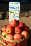 Gala apples with price per peck, Zacherl's Farm Market, Route 23