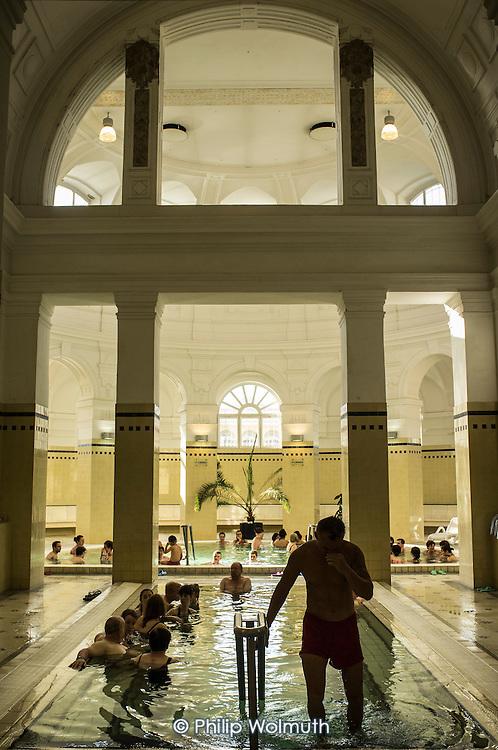 Szechenyi thermal baths, Budapest.