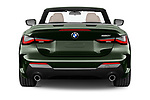 Straight rear view of 2021 BMW 4-Series M-Sport 2 Door Convertible Rear View  stock images