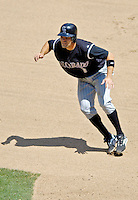 15 June 2006: Jamey Carroll, infielder for the Colorado Rockies, in action against the Washington Nationals at RFK Stadium, in Washington, DC. The Rockies defeated the Nationals, 8-1 to sweep the four-game series, while Carroll went 8 for 18 in his first return to RFK Stadium in a Rockies uniform. Carroll was dealt to Colorado in February, having been in the Nationals/Expos organization since Single-A ball...Mandatory Photo Credit: Ed Wolfstein Photo...