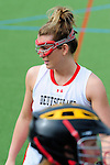 FRANKFURT AM MAIN, GERMANY - April 14: Emily Patterson #19 of Germany before the Deutschland Lacrosse International Tournament match between Germany vs Great Britain during the on April 14, 2013 in Frankfurt am Main, Germany. Great Britain won, 10-9. (Photo by Dirk Markgraf)