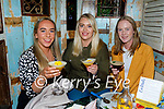 Enjoying the evening in Benners on Friday, l to r: Rachel McEniry, Meghan Collins and Emma Carmody.