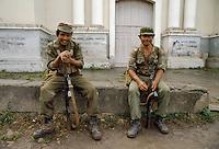 - soldiers of Sandinista army in Matagalpa town....- militari dell'esercito sandinista nella città di Matagalpa