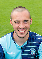 Michael Harriman of Wycombe Wanderers during the Wycombe Wanderers 2016/17 Team & Individual Squad Photos at Adams Park, High Wycombe, England on 1 August 2016. Photo by Jeremy Nako.
