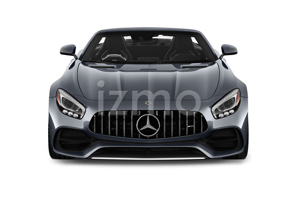 Car photography straight front view of a 2018 Mercedes Benz AMG GT AMG GT 2 Door Roadster