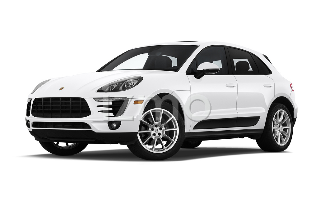 Stock pictures of low aggressive front three quarter view of a 2018 Porsche Macan Base 5 Door SUV