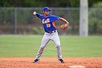 New York Mets second baseman Lee Mazzilli (13) during a minor league spring training game against the Miami Marlins on March 28, 2014 at Roger Dean Stadium in Jupiter, Florida.  (Mike Janes/Four Seam Images)