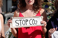 Nederland  Amsterdam - 2019. Extinction Rebellion protest. Stop CO2.   Berlinda van Dam / Hollandse Hoogte