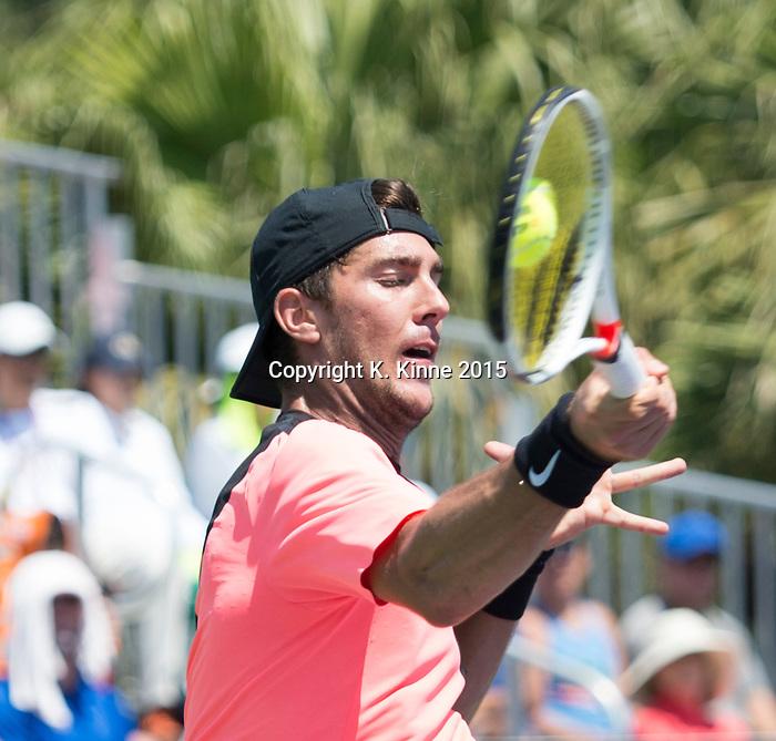 March 26 2018: Fernando Verdasco (ESP) defeats Thanasi Kokkinakis by 3-6, 6-4, 7-6 (4), at the Miami Open being played at Crandon Park Tennis Center in Miami, Key Biscayne, Florida. ©Karla Kinne/Tennisclix/CSM