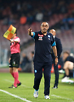 Calcio, Serie A: Napoli, stadio San Paolo, 21 ottobre 2017.<br /> Napoli's coach Maurizio Sarri speaks with his during the Italian Serie A football match between Napoli and Inter at Napoli's San Paolo stadium, October 21, 2017.<br /> UPDATE IMAGES PRESS/Isabella Bonotto