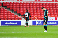 Matt Grimes of Swansea City looks dejected at full time during the Sky Bet Championship match between Nottingham Forest and Swansea City at the City Ground Stadium in Nottingham, England, UK. Wednesday 15 July 2020